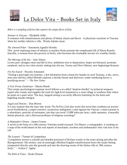 La Dolce Vita ~ Books Set in Italy