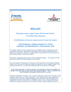 MEDIA ALERT Pittsburgh Junior League Teams With Propel