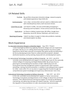 My Resume - User Experience