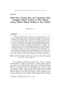 Filial Piety, Parental Piety and Community Piety