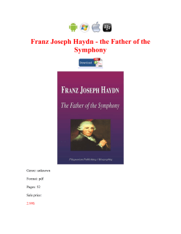 Franz Joseph Haydn the Father of the Symphony book