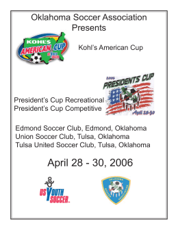 Combined programs 2006.pmd - Oklahoma Soccer Association