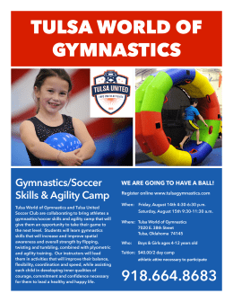 info flyer - Tulsa World of Gymnastics