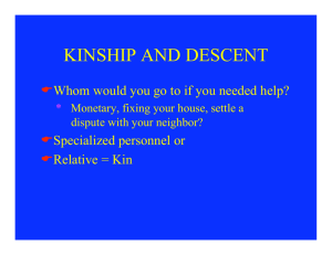 kinship and descent - Ameeta Singh Tiwana