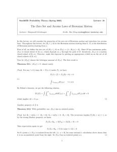 The Zero Set and Arcsine Laws of Brownian Motion