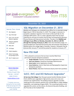 InfoBits from ITSS - San José/Evergreen Community College District