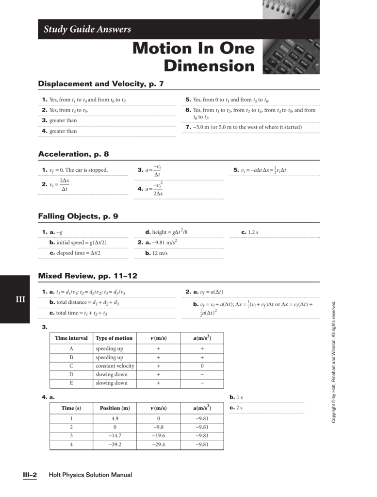 Worksheets Holt Science Spectrum Worksheets workbooks holt science spectrum worksheets free printable motion in one dimension
