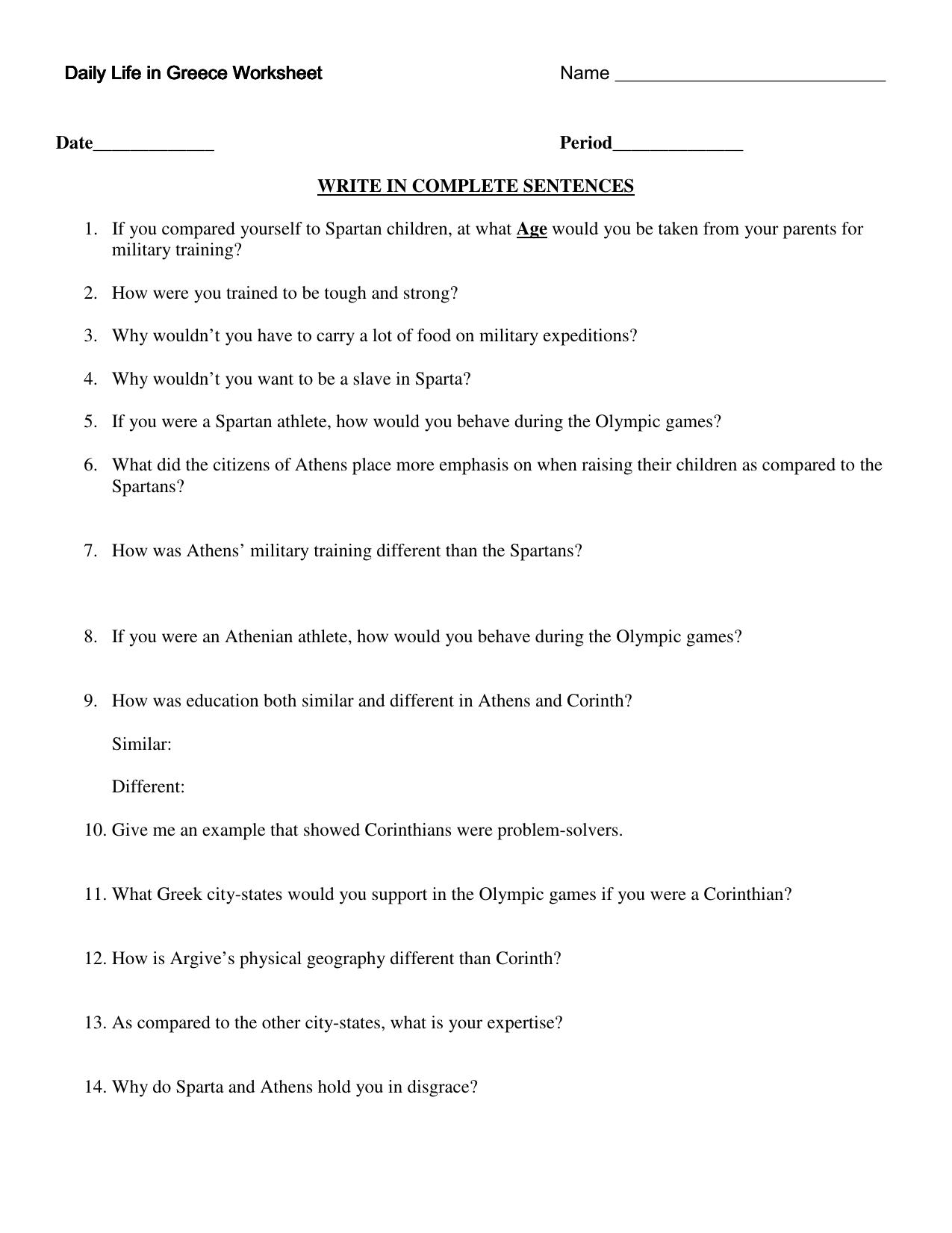 worksheet Ancient Greece Worksheets worksheets ancient greece pureluckrestaurant free daily life in worksheet worksheet
