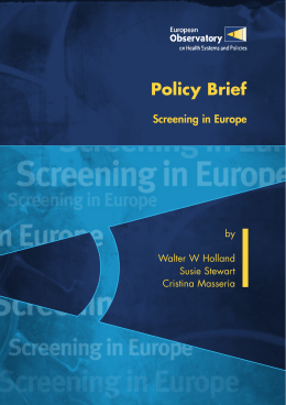 Policy Brief - WHO/Europe - World Health Organization