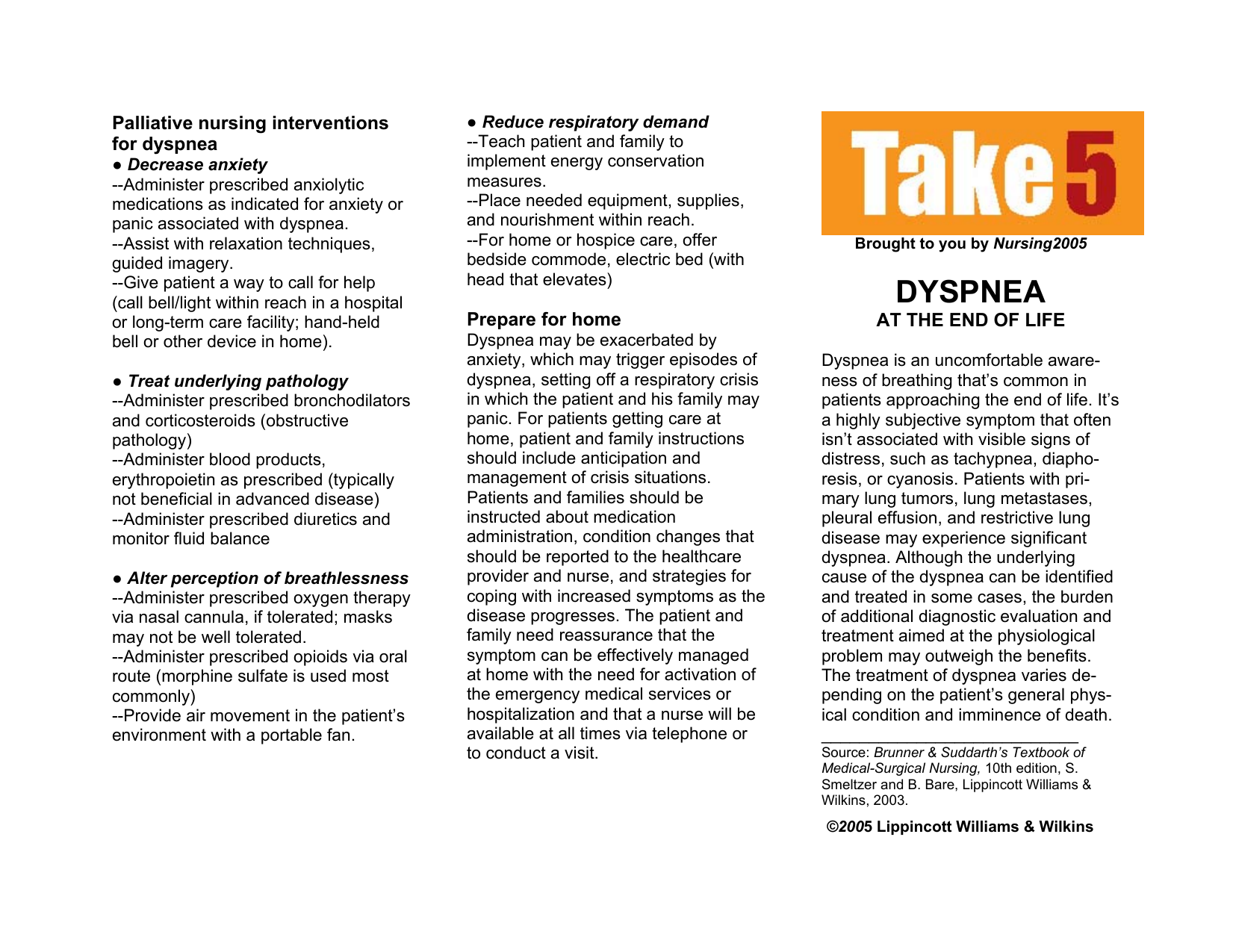 Take 5: Dyspnea - NursingCenter.com