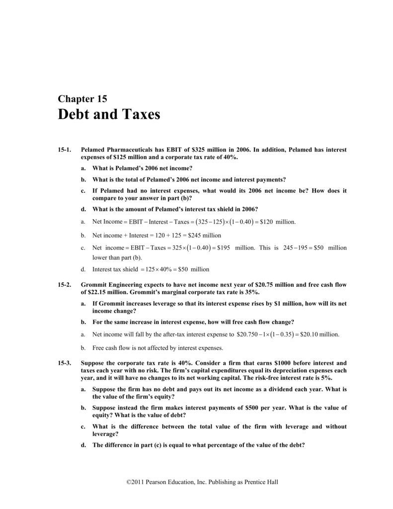 Chapter 15 Debt and Taxes