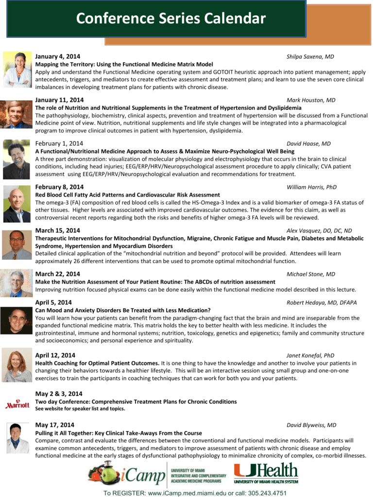 Conference Series Calendar - Complementary & Integrative