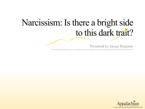 Narcissism: Is there a bright side to this dark trait?