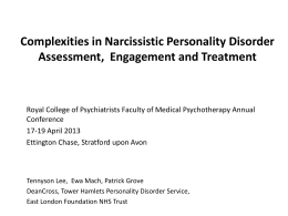 Complexities in Narcissistic Personality Disorder Assessment