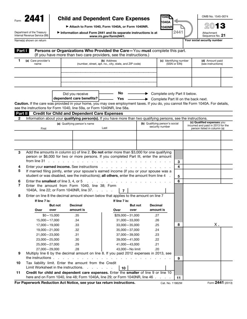 Form 2441 - WageWorks