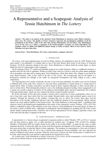 Analysis of Tessie Hutchinson in The Lottery