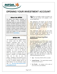 Client Information - Opening your investment account