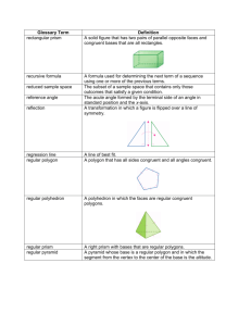 Glossary Term Definition rectangular prism A solid figure