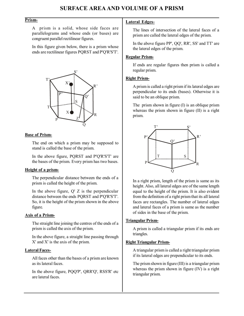 Similiar volume of right trapezoidal prism keywords the and surface area  trapezoid prisms measurement worksheet