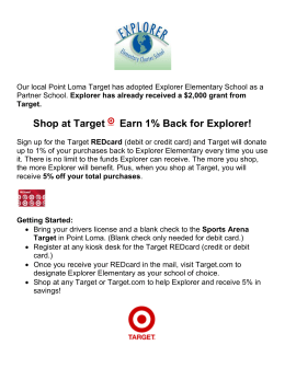 Shop at Target Earn 1% Back for Explorer!