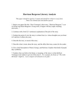 harrison bergeron essay harrison bergeron literary analysis