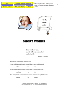 Style: Short Words