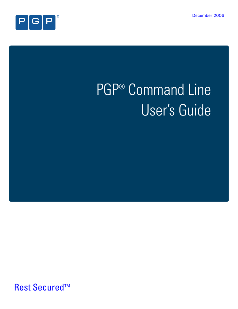 PGP Command Line User's Guide
