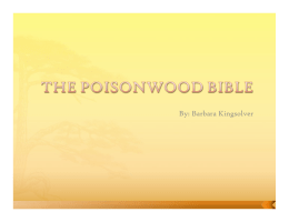The poisonwood bible okapi essay
