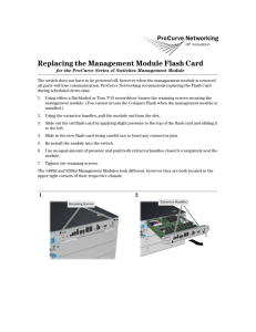 Management Module Flash Card Replacement Instructions for