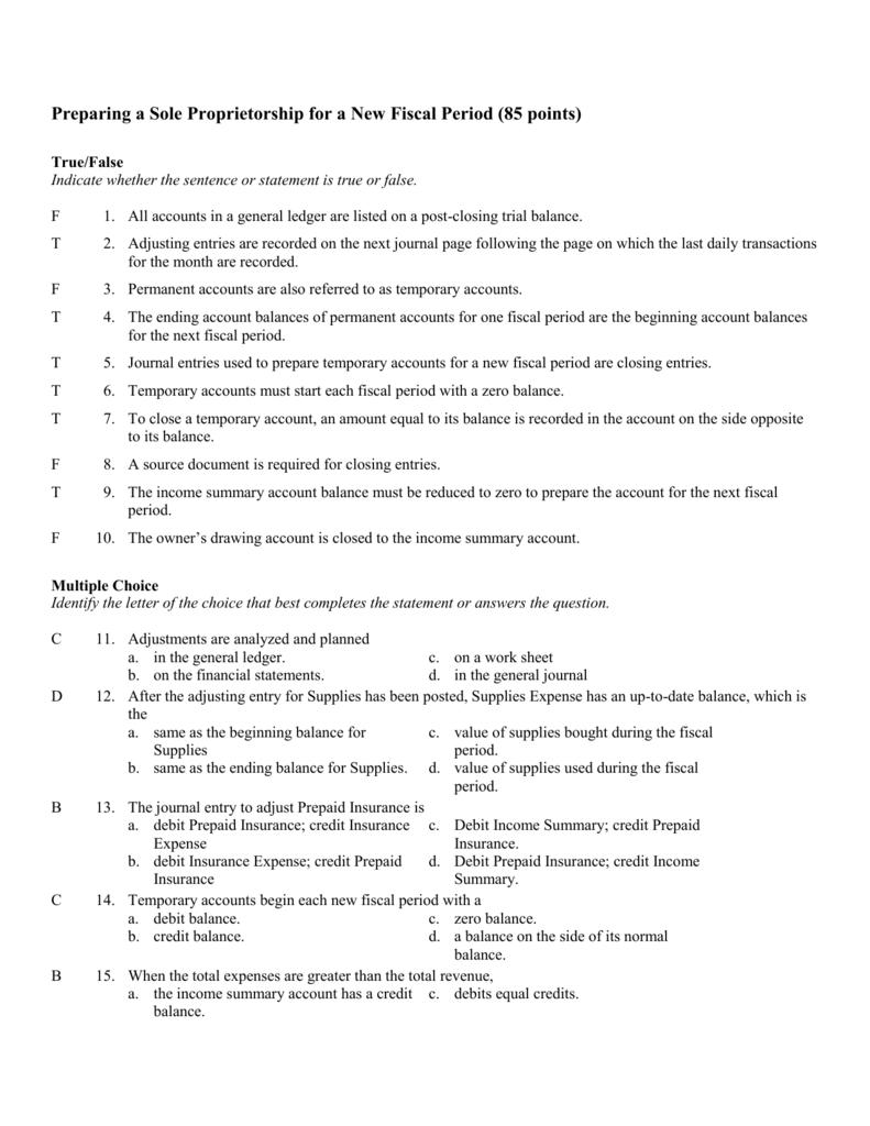 Test Chapter 8 Key Part 1