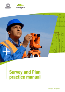 Survey and Plan Practice Manual