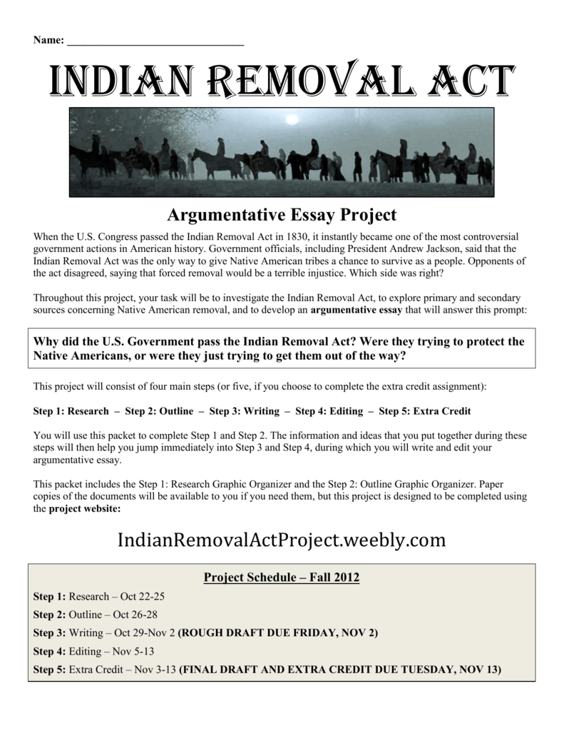 indian removal act project