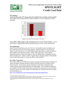 Credit Card Debt - North Carolina Assets Alliance