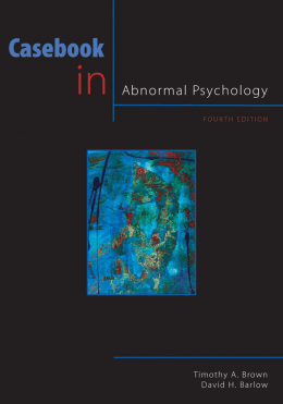 120-Casebook in Abnormal Psychology, 4th Edition