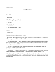 "James Prothro Poem Notes Sheet Title of Work: ""The Lamb"" ""The"