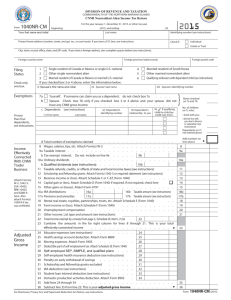 Form 1040NR-CM - CNMI Department of Finance