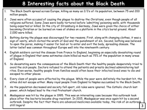 8 Interesting facts about the Black Death