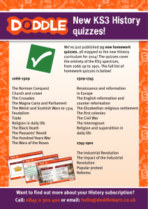 New KS3 History quizzes!