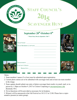 Scavenger Hunt - The UNC Charlotte Staff Council