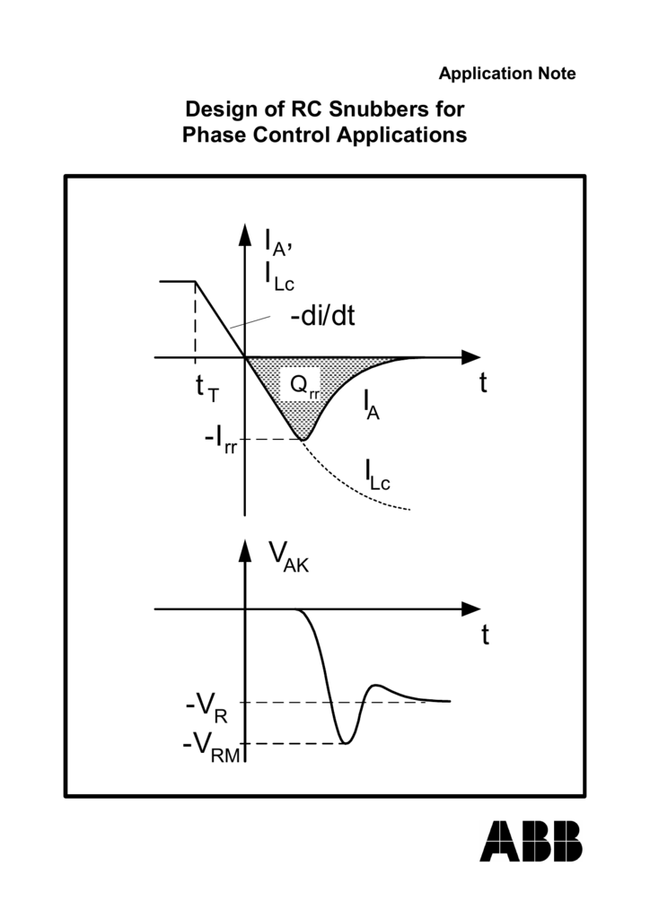 Design of RC Snubbers for Phase Control Applications