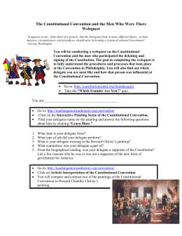 Constitutional Convention Webquest