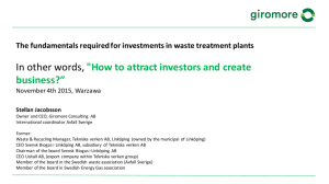 "In other words, ""How to attract investors and create business?"""