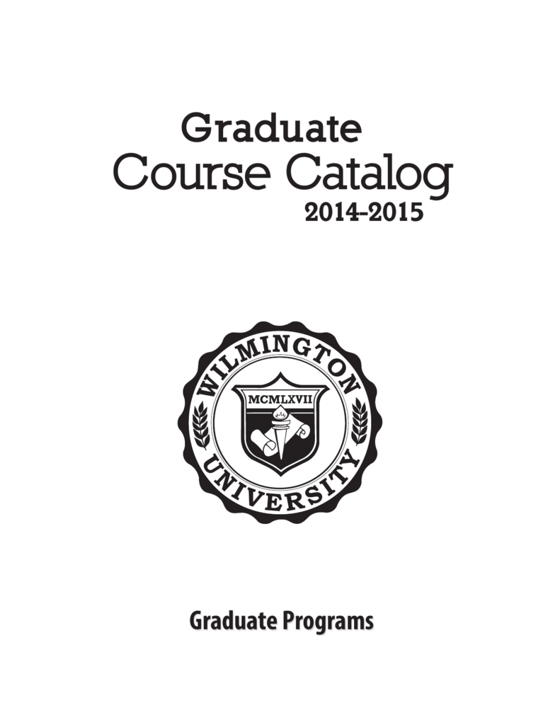 Course Catalog Wilmington University