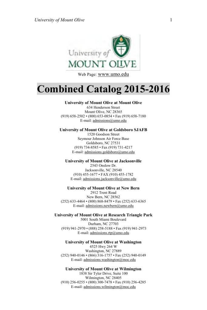 Combined Catalog 2015-2016 - MyUMO