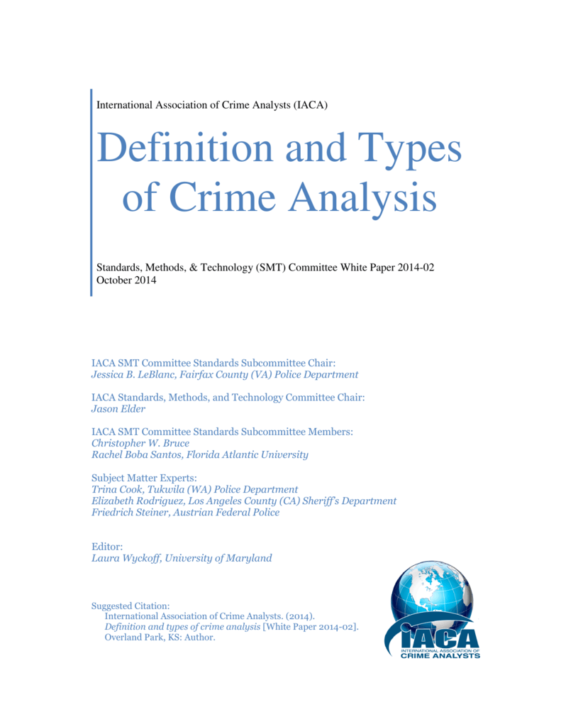 Definition and Types of Crime Analysis - IACA