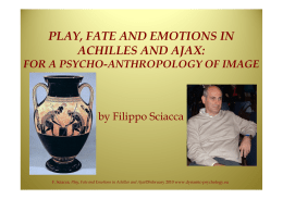 play, fate and emotions in achilles and ajax