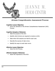 Airman Comprehensive Assessment Process