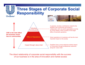 Three Stages of Corporate Social Responsibility