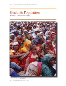 Health & Population Module 2 • i2P • Expedition India