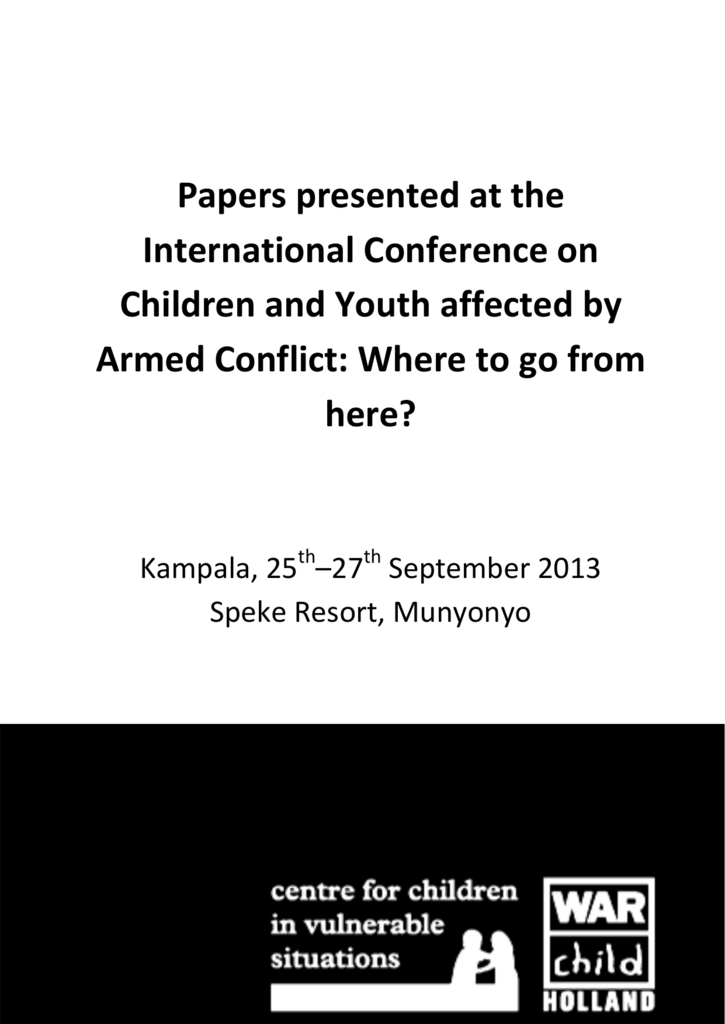 Papers presented at the conference